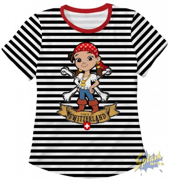 Piraten girl schwarz/weiss 2