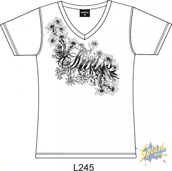 Damen Blumen mit Strass weiss -XL