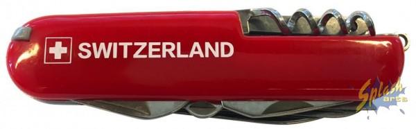 Taschenmesser Switzerland rot